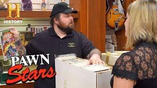 Pawn Stars: Chum Bets on Boxes of Comic Books (Season 15) | History