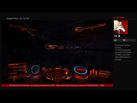 ROTdeDOG74's Live PS4 Broadcast form game . Elite dangerous. Part 6.