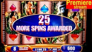 $700 Premiere Stream | Queen Of The Wiald Slot Machine BONUSES | Money Charge Jackpots Slot Machine