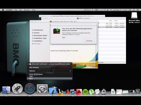 how to install microsoft office 2011 (v14.1.3) for mac mavericks (cracked/activated)