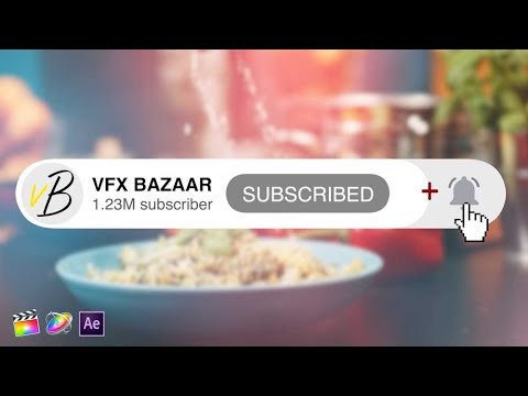 YouTube Subscribe Button Animation V.1 - Download Free Template - VFX BAZAAR