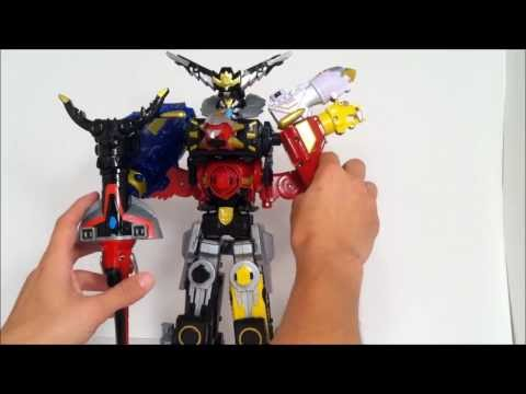 Video Review of Power Rangers Megaforce Gosei Great Grand Megazord