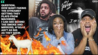 ‪J COLE SNAPPED 😱🔥| 21 Savage - A Lot ft. J Cole (Official Audio) ‬#21savage #iamiwas‬| REACTION!!