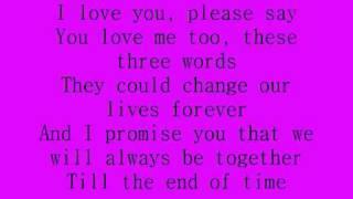 Celine Dion - I love you lyrics