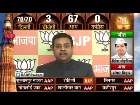 Delhi Elections: Sambit Patra on BJP's setback, Ghar Wapsi, and more