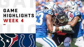 Texans vs. Colts Week 4 Highlights | NFL 2018
