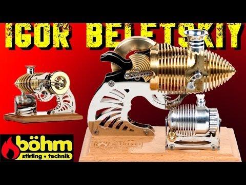 ВАКУУМНЫЙ ДВИГАТЕЛЬ Vacuum engine Flammenfresser Bohm Stirling motor HB22 ( ИГОРЬ БЕЛЕЦКИЙ )