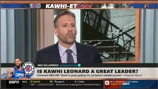 Max Kellerman HARSH REACTION Is Kawhi Leonard a great leader?  | FIRST TAKE 7/18/2019