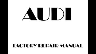 Audi A6 C5 1998 1999 2000 2001 2002 2003 repair manual