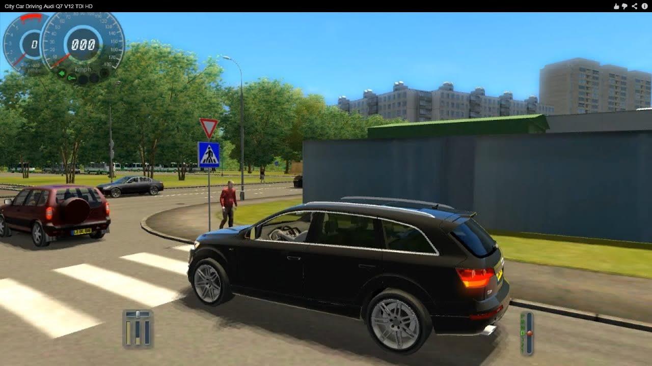 City Car Driving Audi Q7 V12 TDI HD - YouTube