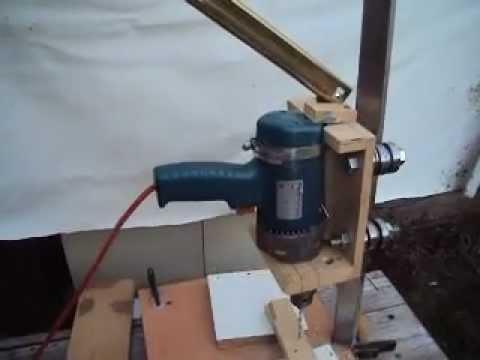 Como hacer una base para taladro casero