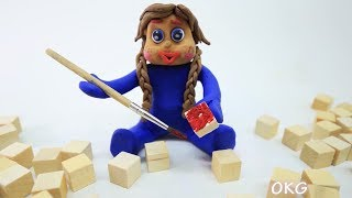 Blue Baby in CREATIVE PAINT ARTIST - Play Doh Cartoon Stop Motion For Kids