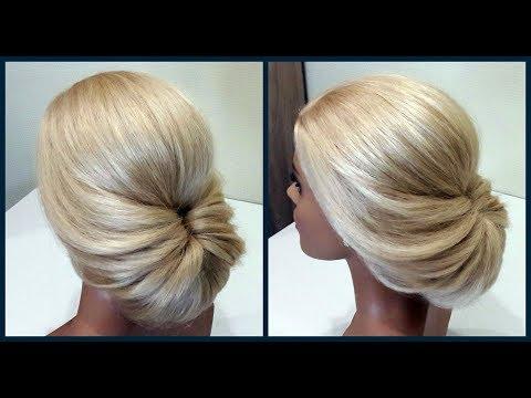 Легкий вариант для создания самой себе Вечерней Прически.Fast, light evening hairstyle for yourself