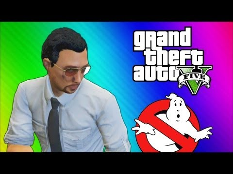 GTA 5 Glitches & Mods - FIB Building Mission, Ghostbusters, Big Poop, Elevator Shaft (GTA 5 Online)