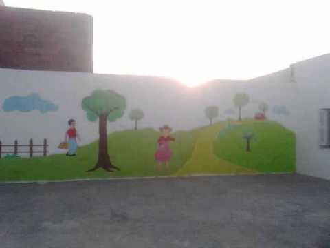 Decoration jardin d 39 enfants youtube for Decoration murale jardin