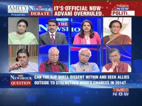 The Newshour Debate: Modi BJP's PM candidate - Part 1