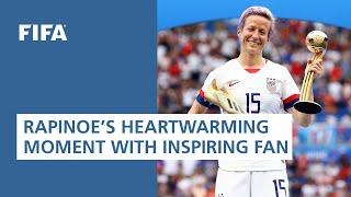 Rapinoe's heart-warming moment with inspiring fan