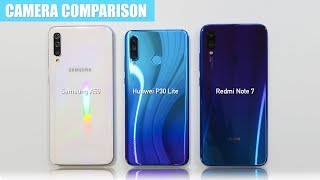 Samsung A50 vs Huawei P30 Lite vs Redmi Note 7 CAMERA TEST COMPARISON