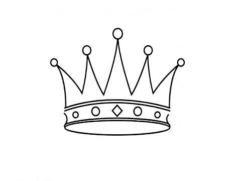 Корона которую легко нарисовать