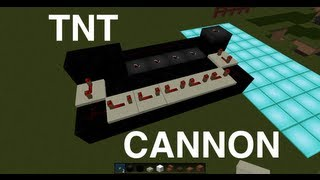 Minecraft Tutorial: How To Make A TNT Cannon