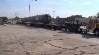 Huge 1.1 million pound Load Demethanizer traveling through Cushing Oklahoma