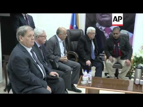 Ahmadinejad leaves for Chavez funeral, Abbas pays respects at Embassy