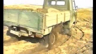 Колёсно-шагающий УАЗ  на   песке АВГ2013