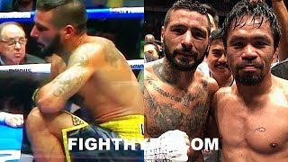 LUCAS MATTHYSSE REACTS TO PACQUIAO DROPPING AND STOPPING HIM; EXPLAINS WHAT WENT WRONG