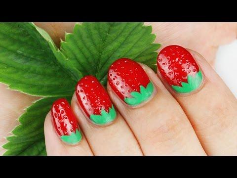 3D Strawberry Nail Art Tutorial