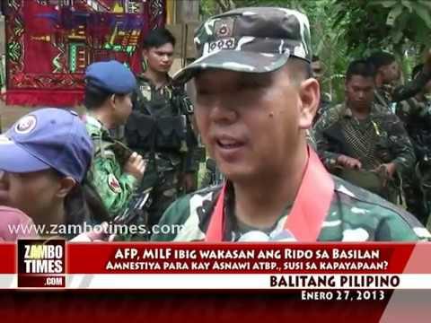 Balitang Pilipino: AFP, MILF, IMT peace effort in Basilan, Galvez meets Asnawi