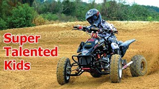Super Talented Little Kids on Mini Quad (ATV) 2017