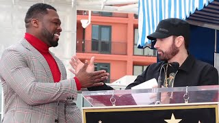 Eminem, 50 Cent And Dr. Dre At Hollywood Walk Of Fame Ceremony (Exclusive 4K Version)