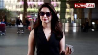 Tamanna Bhatia Spotted at Mumbai Airport | Actress Spotted | The Laddu