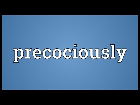 Header of precociously