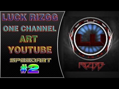 #2 Youtube One Channel Art Speedart for Luck Rizgg - ProAidenHD