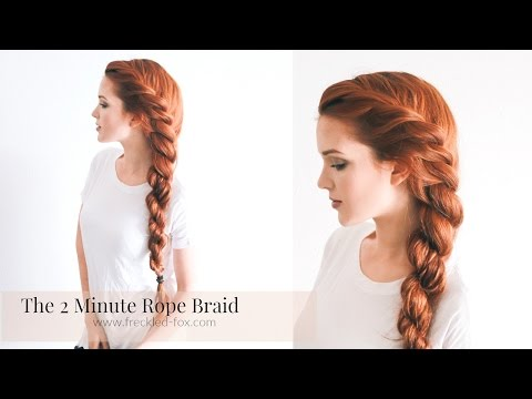 THE 2 MINUTE ROPE BRAID HAIRSTYLE  HAIRSTYLE | THE FRECKLED FOX