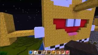 Minecraft Build #001 : GIANT SPONGEBOB [Alone]