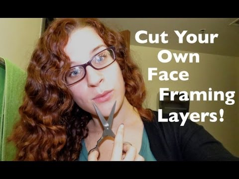 Cutting Curly Side Bangs / Face Framing Layers Yourself