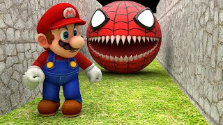 Red Spider Pacman vs Super Mario
