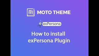 How to install exPersona Plugin