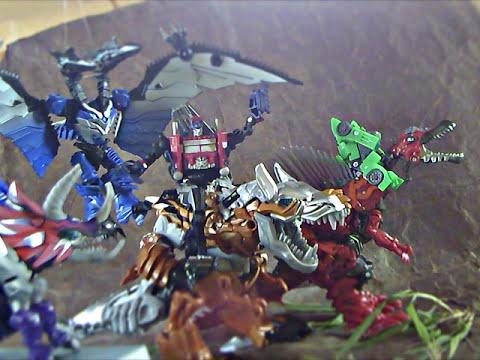 Transformers Age of extinction stop motion: Optimus vs Grimlock