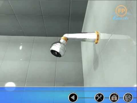 Cómo instalar una ducha 8 pulgadas para baño (Fundición Pacifíco)