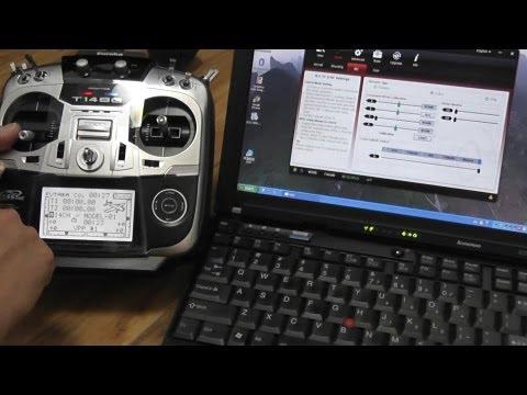 How to Program Futaba 14SG Radio to setup DJI WKM Part 3