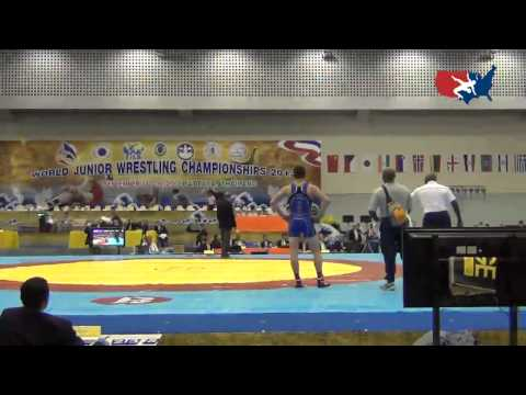 2012 Junior Worlds - GR 60kg Semifinal - Jesse Thielke (USA) vs. Ramin Taheri (IRI)
