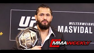 Jorge Masvidal won't put the BMF Belt on the line in future fights