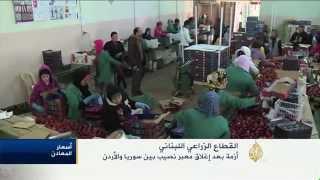 أزمة بالقطاع الزراعي اللبناني بعد إغلاق معبر نصيب