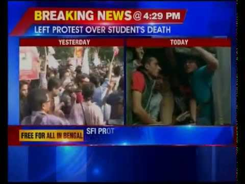 SFI protest against student's death across West Bengal