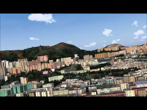 BRITISH AIRWAYS A380 LANDING AT KAI TAK AIRPORT HONG KONG FS2004 HD