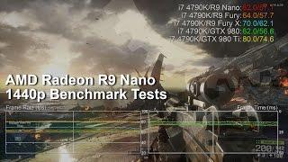 AMD Radeon R9 Nano 1440p Benchmarks vs Fury X/Fury/GTX 980 Ti/GTX 980