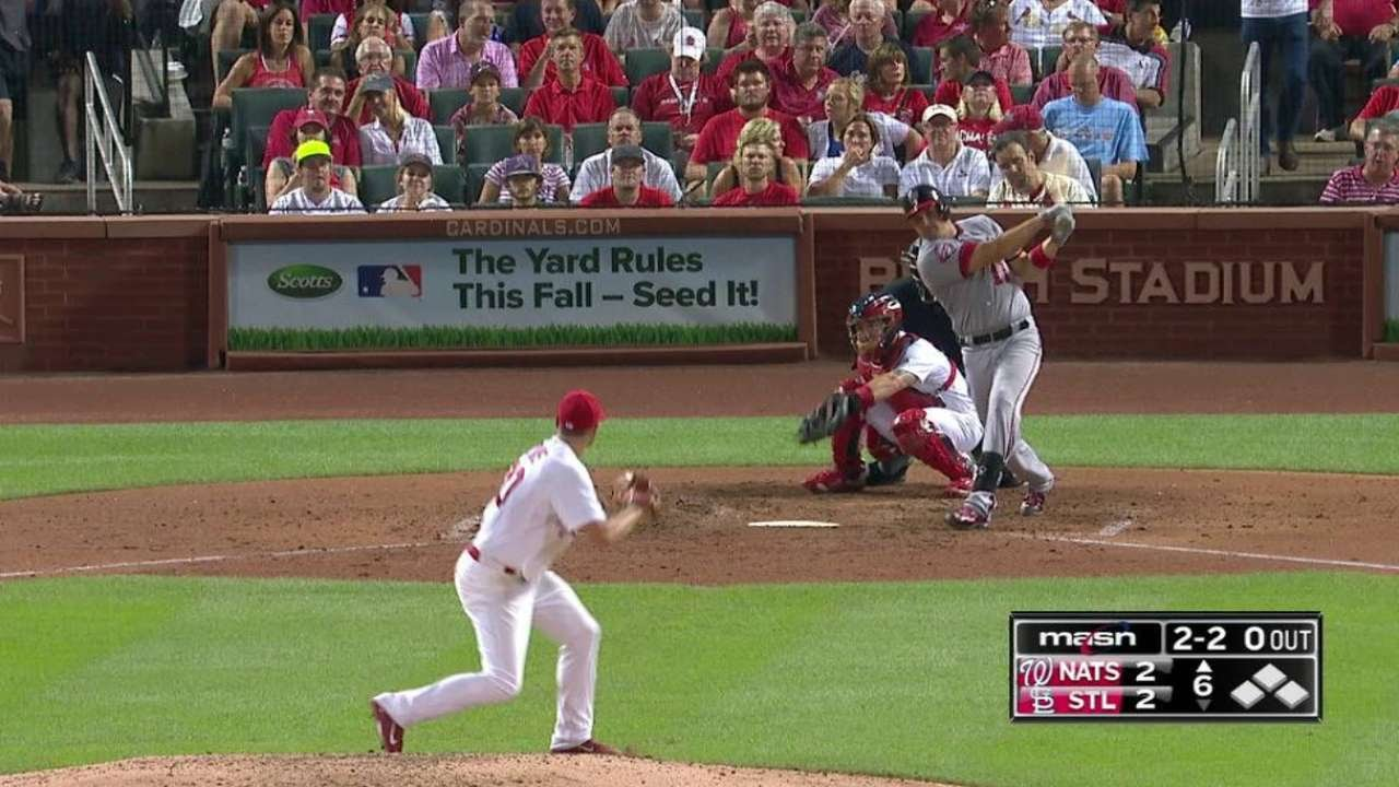 WSH@STL: Zimmerman gives Nats lead with 200th homer